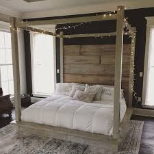 Wood Canopy Bed Frame Reclaimed Wood Canopy Bed White 4 000 Liked On Polyvore