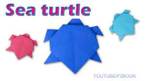 origami sea turtle paper animals turtle easy make simple
