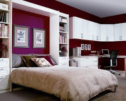 bedroom study room design small white book shelves side open