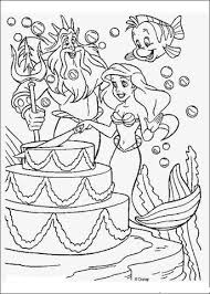 a party for ariel coloring page free printable coloring pages