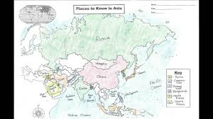 Map Quiz Asia by Learn The Major Countries Of Asia In 6 Mins Youtube