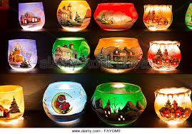 painted glass candle holders stock photos painted glass candle