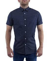 mens printed shirts navy blue gentsbuy