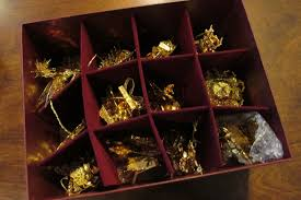used danbury mint gold ornament collection 15 ornaments