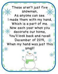 poem for snowman ornament craft holidays snowman