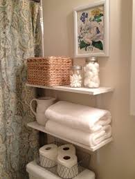 bathroom wood shelf ideas white round drop in sink brown ceramic
