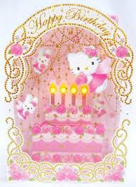 hello kitty angel rose birthday cake lights u0026 melody greeting