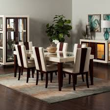 Dining Rooms SetsRoom Black Leather Chairs Also Rectangular Area - Dining rooms sets