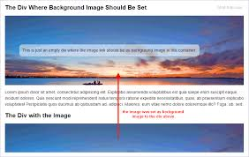 div background url set div background image from image source with jquery html tuts