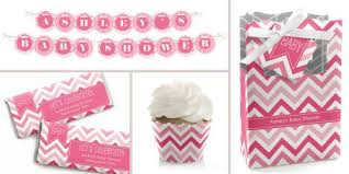 baby shower themes for girl chevron pink baby shower theme bigdotofhappiness