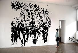 carlos motta instituto de vision 2 vinyl murals on wall