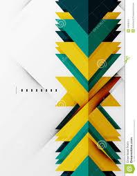 futuristic geometric shapes minimal design stock vector image