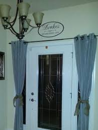 Sidelight Panel Blinds Entryway Curtains Great Idea For Added Privacy Decorating