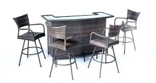 Patio Furniture Bar Set Patio Bar Set 5 Wicker Outdoor Pub Table Set With Bar Stools