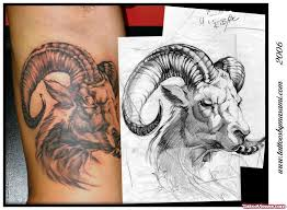 latest grey ink goat head aries tattoo tattoo viewer com