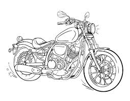 printable motorcycle coloring free pdf download http