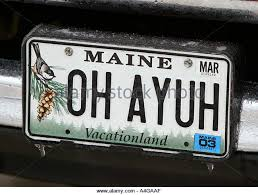 Maine State Vanity Plates State License Plate Stock Photos U0026 State License Plate Stock