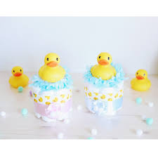 rubber ducky mini diaper cake baby shower centerpiece decoration