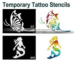 200pcs temporary tattoo stencils templates mixed designs airbrush