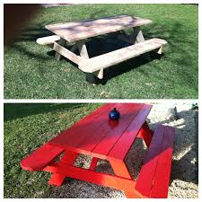 furniture picnic table with benches picnic table lowes metal