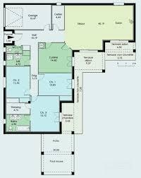 plans maison plain pied 4 chambres plan maison simple 4 chambres fresh plan maison plain pied 120m2