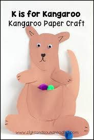 letter k craft kangaroo paper craft mrs karles sight and sound