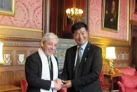 tibetan bureau office sikyong of tibet meets parliament speaker visits commons