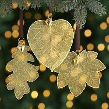 gold leaves with acorn ornaments crate and barrel