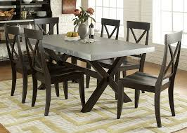 dining trestle table table in rubberwood solids wood and charcoal finish