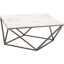 zuo modern 100657 tintern coffee table in faux marble on geometric