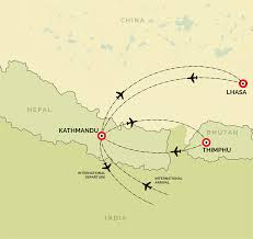 Map Nepal India by A Lifetime Experience Trips To Nepal Tibet And Bhutan