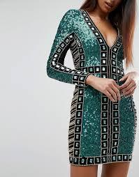 starlet starlet sequin paneled mini dress
