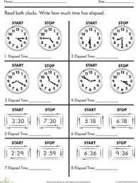 14 best images of table elapsed time worksheets 4th grade