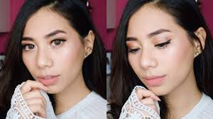 review tutorial make up natural wardah wardah one brand makeup tutorial abel cantika youtube
