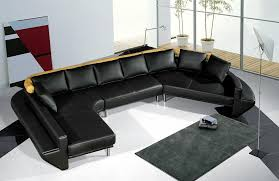 Contemporary Black Leather Sofa Black Contemporary Sofa Nurani Org