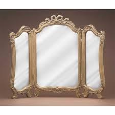 Gold Vanity Mirror Elizabeth Austin Tripoli Trifold Vanity Mirror 31w X 21h In