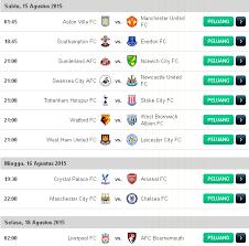 Jadwal Liga Inggris Jadwal Liga Inggris 2015 2016 Pekan Ke 2 Borjue Football Club
