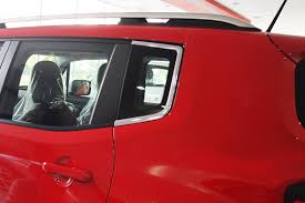 turquoise jeep renegade for jeep renegade 2014 chrome c pillar cover trim set ebay