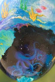 underwater mermaid hand painted wine glass galaxy inspired ocean