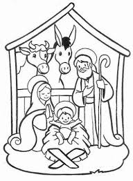 Nativity scene christmas coloring pages  Christmas Crafts