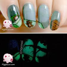 piggieluv creepy shadow nail art hpb october halloween mani link up
