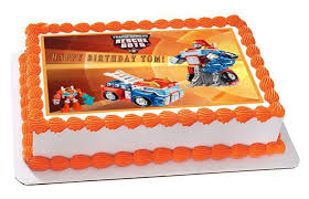 transformers rescue bots 1 edible cake or cupcake topper edible transformers rescue bots 6 edible birthday cake topper or cupcake