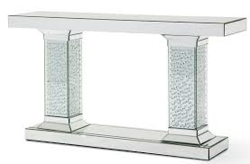 montreal mirrored console table crystal accents fs mntrl225 usa