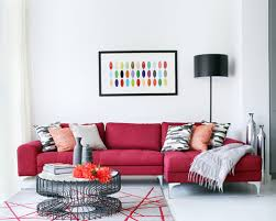 living room ideas red couch interior design