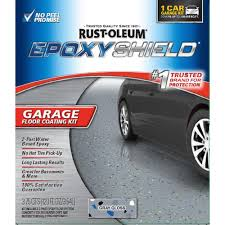 rust oleum rocksolid 76 oz gray polycuramine 1 car garage floor