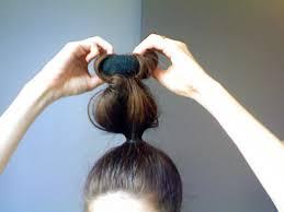 sock hair bun diy sock bun canadian beauty