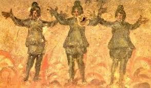 rev黎ement mural cuisine los tres hebreos en el horno catacumba de priscila roma s ii