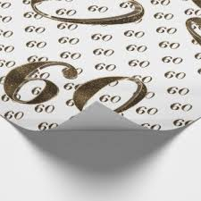 cadeau 60 ans de mariage papier cadeau 60 ans zazzle ca