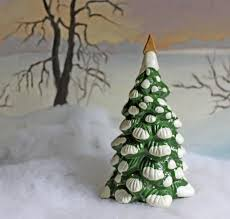 christmas decoration spruce tree for christmas village or