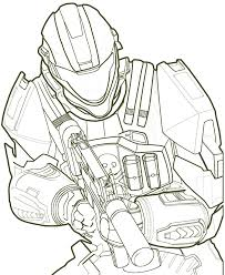 halo coloring pages eson me
